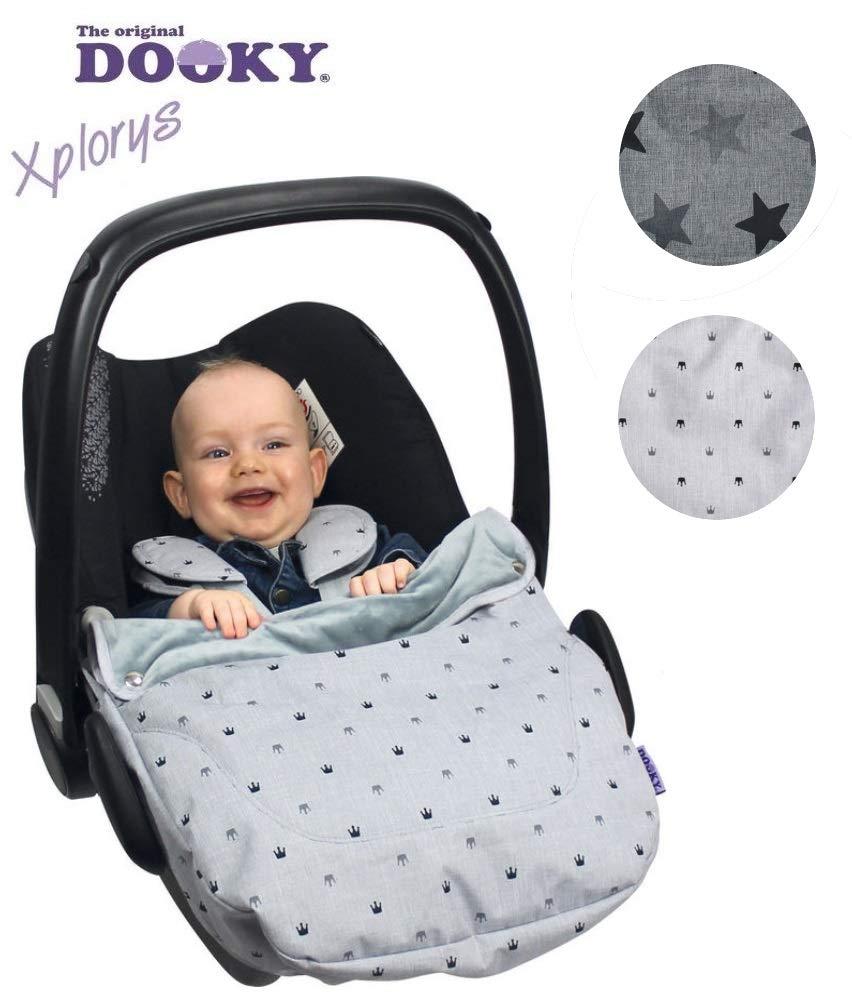 DOOKY Cosy Top R/ömer Cybex e altri Coprigambe imbottito seggiolino per bambini come Maxi Cosi impermeabile e antivento per ovetto