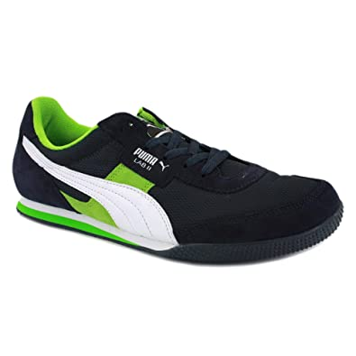 meilleur service 811ab 0f767 Puma Lab II 351071 16 Mens Laced Mesh & Suede Trainers Navy ...