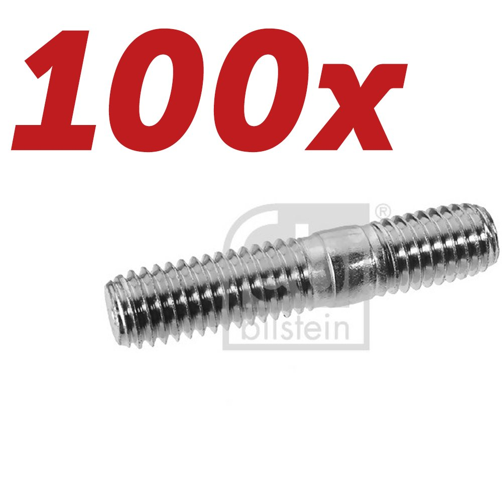 100x FEBI BILSTEIN Schraube Abgasanlage