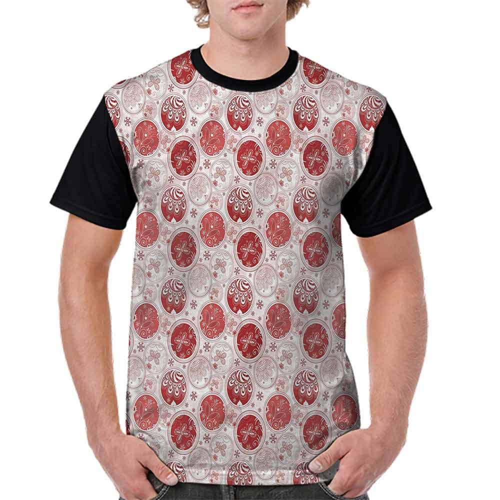BlountDecor Cotton T-Shirt,Christmas Concept Flowers Fashion Personality Customization