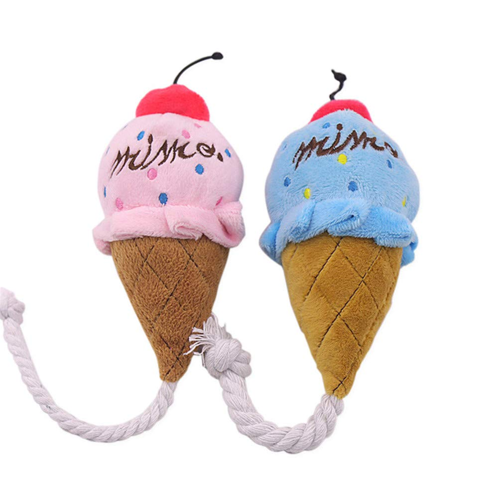 Pet Toys Ice Cream Vocal Toy Dog 2 Pack Suitable for Cats and Dogs to Play