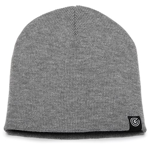 - Original Beanie Cap Soft Knit Beanie Hat Warm and Durable for Winter Light Heather Grey One Size
