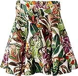 OSCAR DE LA RENTA Childrenswear Baby Girl's Mikado Jungle Monkeys New Skirt (Toddler/Little Kids/Big Kids) Jungle Green 8