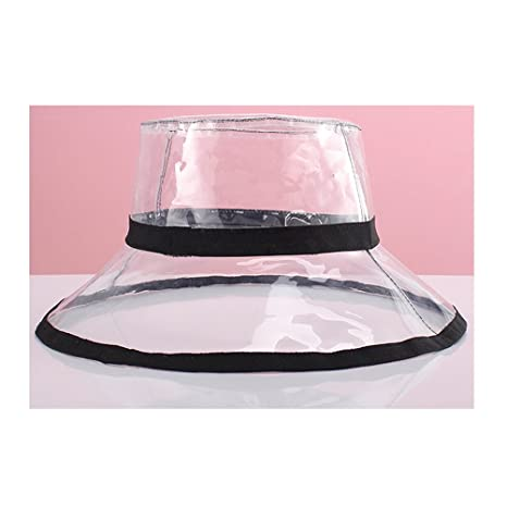 JUIOKK PVC Transparent Bucket Hat 2fa5a6030fad