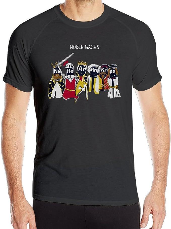Noble Gases Camisa de Entrenamiento para Hombre con diseño de Ciencia y química - Negro - Small: Amazon.es: Ropa y accesorios