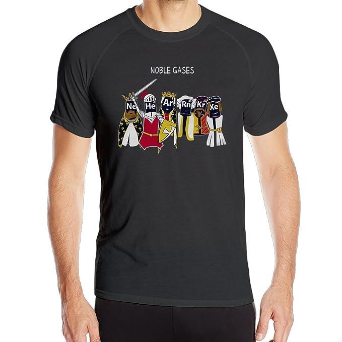 Vgd Noble Gases Divertido Ciencia Química Camisetas Para Hombre Deportes Running Camisas Formación Camisas - Negro - S: Amazon.es: Ropa y accesorios