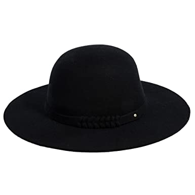 95959a24257a1 Jeff   Aimy Womens 100% Wool Felt Hat Winter Panama Fedora Pork Pie Church  Derby