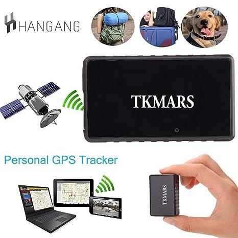 Hangang Mini GPS Tracker, Tkmars GPS para Coche Localizador en Tiempo Real Anti Loss espía