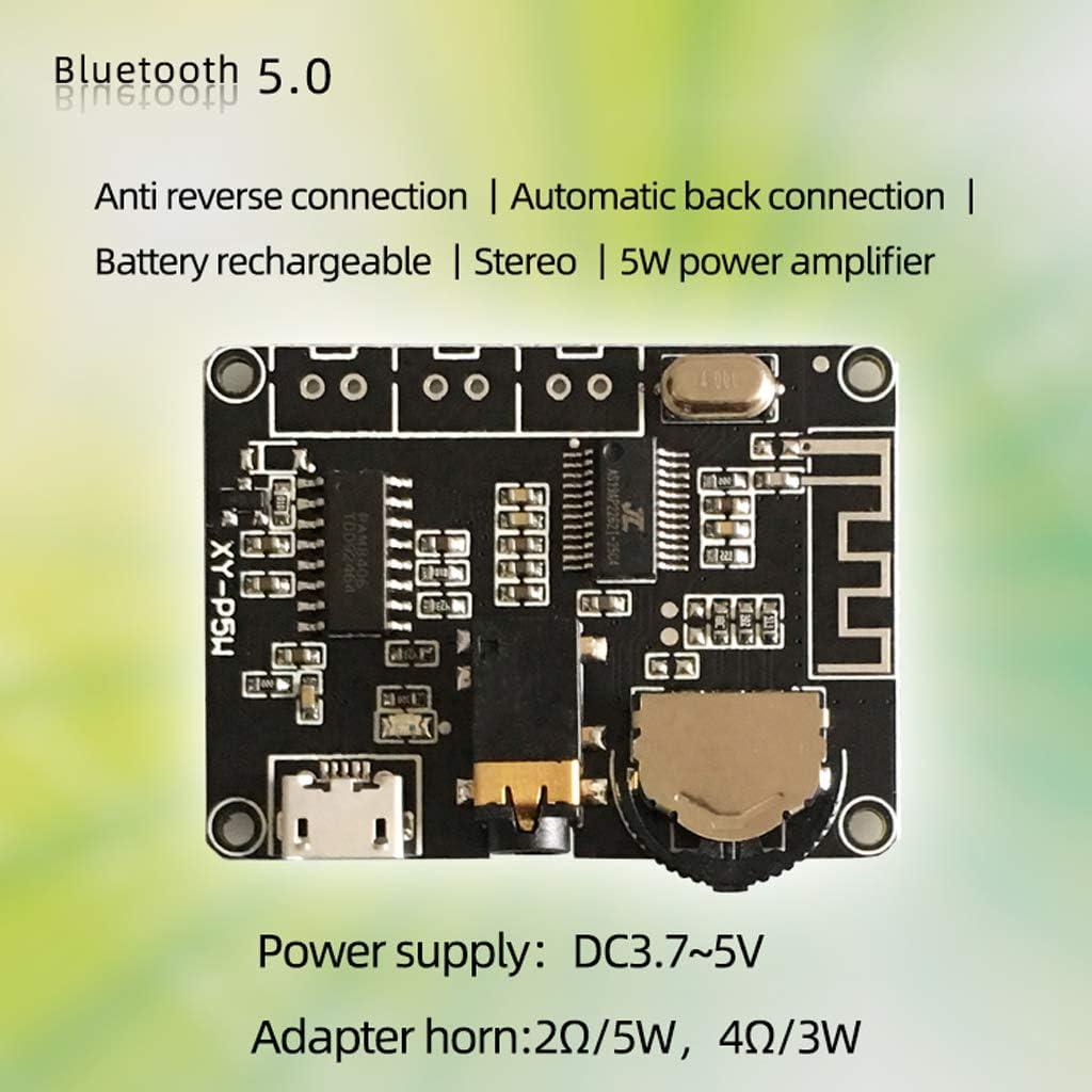 Rtengtunn Module de Carte damplificateur de Puissance Audio st/ér/éo 3W 5W PAM8406 Bluetooth 5.0 XY-P5W