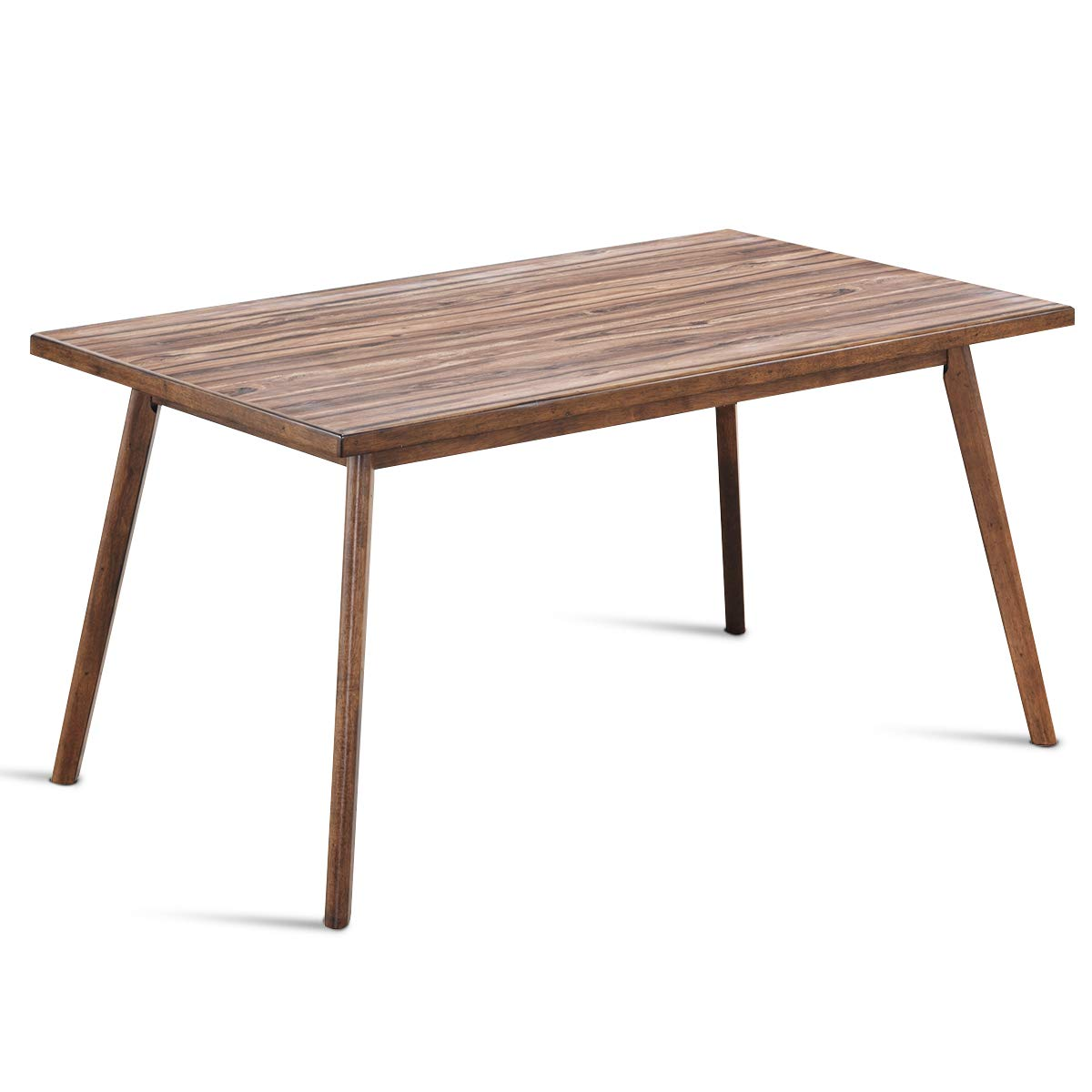 Giantex Dining Table Mid Century Kitchen Table Rectangular Console Table with Wood Legs by Giantex
