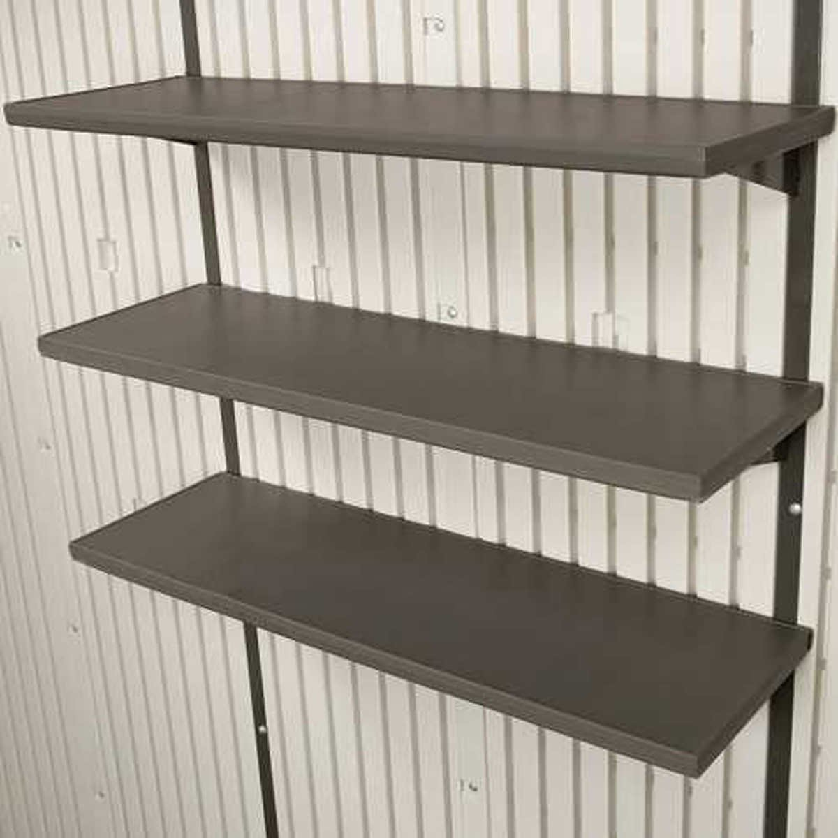 3 Piece 30in Shelf Storage Shed Accessory Kit