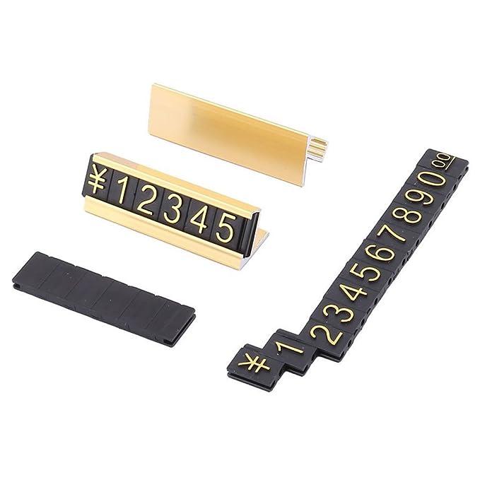 SNOWINSPRING 19 Gruppen Gold-Ton Metall arabische Ziffern zusammen Preisschilder