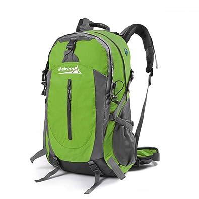 46ac6dd7b968 Amazon | バックパック 50L リュック 登山 ザック アウトドア 旅行用 バッグ リュックサック 防水 軽量 レインカバー付き (グリーン)  | YANHAIDIDAI | 登山リュック・ ...