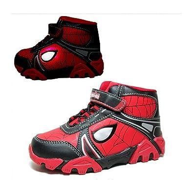 84c1c5b59e3 CRAVOG Children Cartoon Light Spiderman LED Shoes Boys Girls High-top Sport  Running Shoes Fashion Glowing Sneakers: Amazon.co.uk: Shoes & Bags