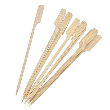 betterus 10pcs Palos de bambú palillos de bambú Pinchos para barbacoa palos 6 pulgadas de largo