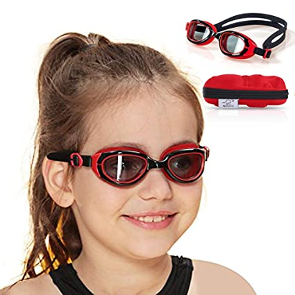 c584c9caf53e7 Spinosaurus Kids Swim Goggles(Age 3-12 Years), Fashionable, Anti-Fog,UV  Protection, No Leaking, HD Swim Goggles with Fun Hippo Hardcase for Kids  Youth and ...