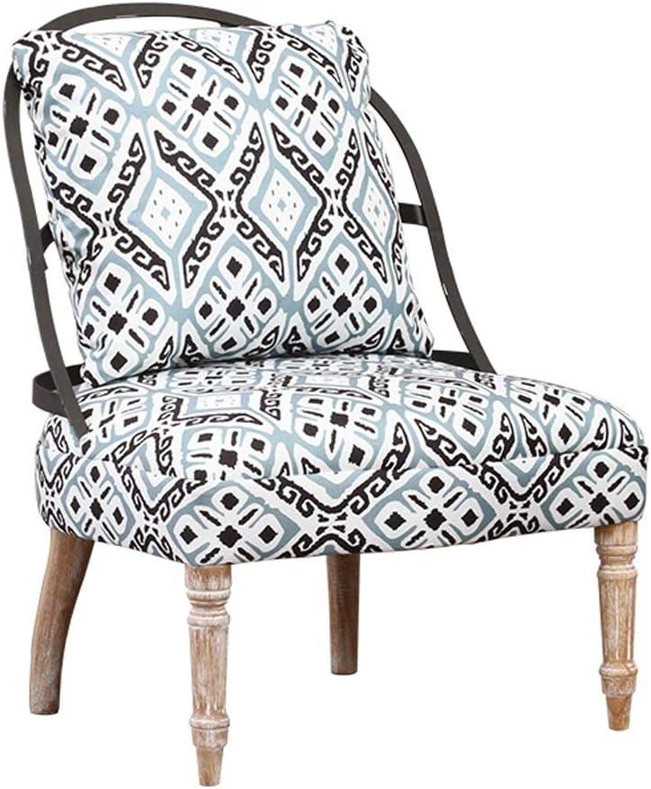 YUAN MA 椅子- 布製ソファ - ソファチェア、モダンなミニマリスト、シングルソファ、バルコニーラウンジチェア、パーソナライズドベッドルームチェア、ピローチェア 屋内と屋外に適しています (色 : B)