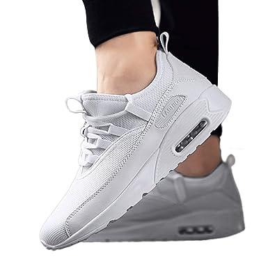 JiaMeng Moda Casual Pareja Deportes de Malla al Aire Libre Zapatos Runing Zapatos Transpirables Zapatillas de Deporte de Running Fitness Sneakers: ...