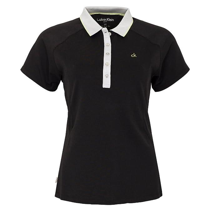 Calvin Klein - Camisa Deportiva - para Mujer Black/Chartreuse UK ...