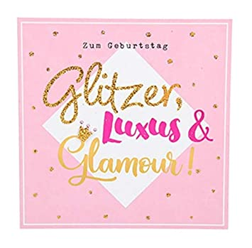 Depesche 8211.020 Tarjeta de felicitación Glamour con ...