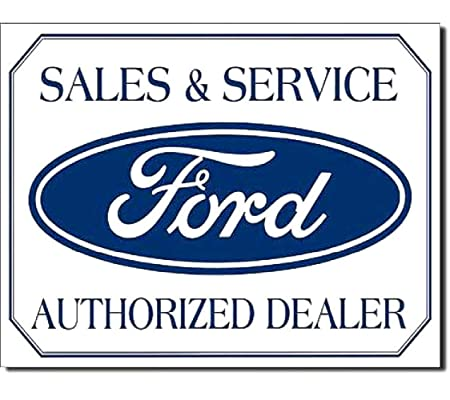 Ford Logo Cartel de Chapa Placa metal plano Nuevo 40x31cm ...