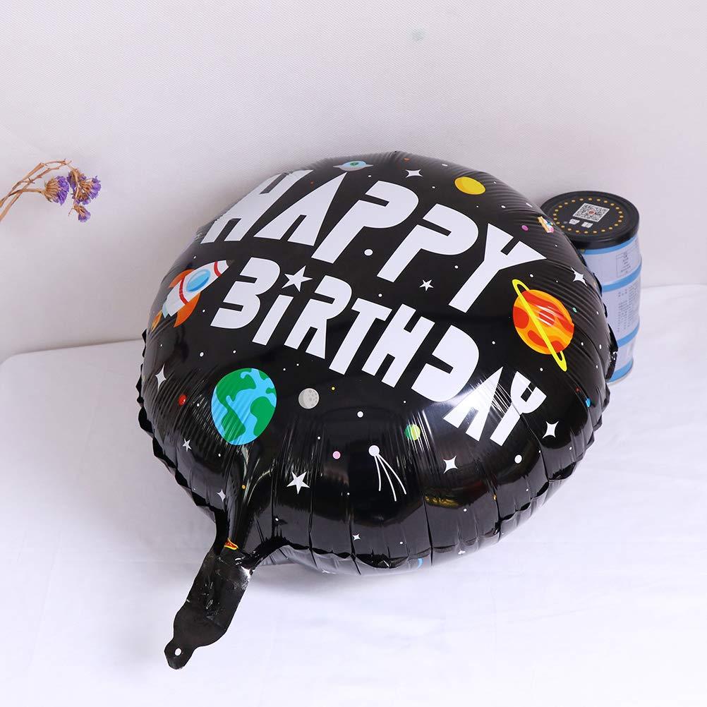Partydekoration Solarsystem Osun Folienballons mit Astronauten-Raketenschiff