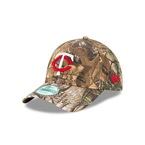 5baab12ff88cc0 Image Unavailable. Image not available for. Color: New Era Minnesota Twins  The League Realtree Camo 9FORTY Adjustable Hat/Cap