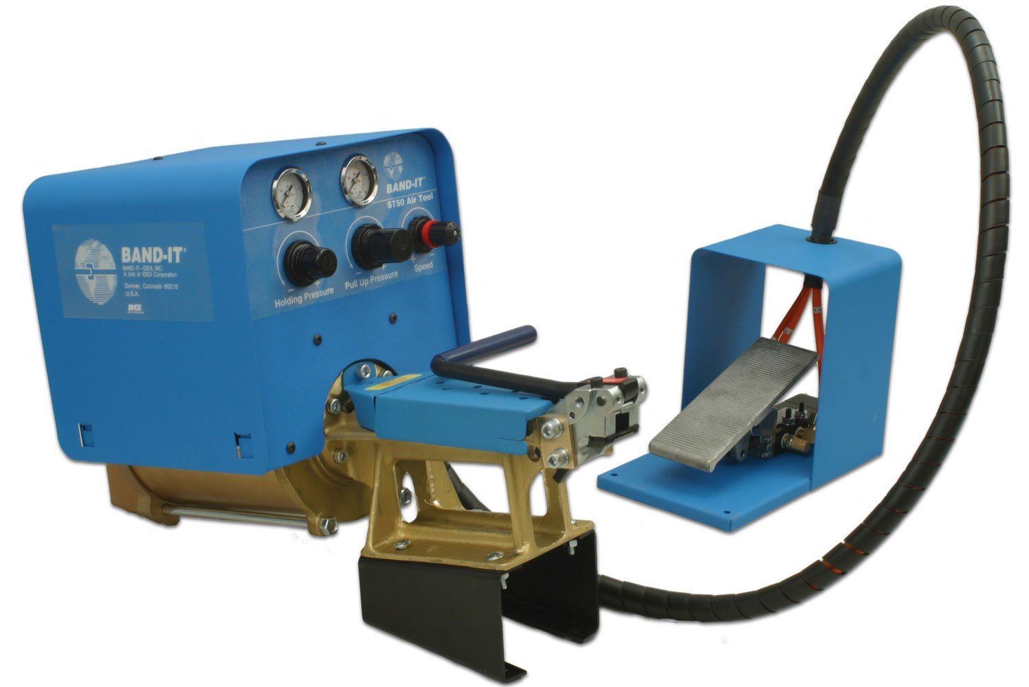 BAND-IT S75099 Air Tool With Manual Cut Off And Foot Control Feature, For Use With BAND-IT Jr. Smooth ID Clamps