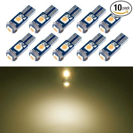 Amazon.com: Bombillas LED T5: Automotive