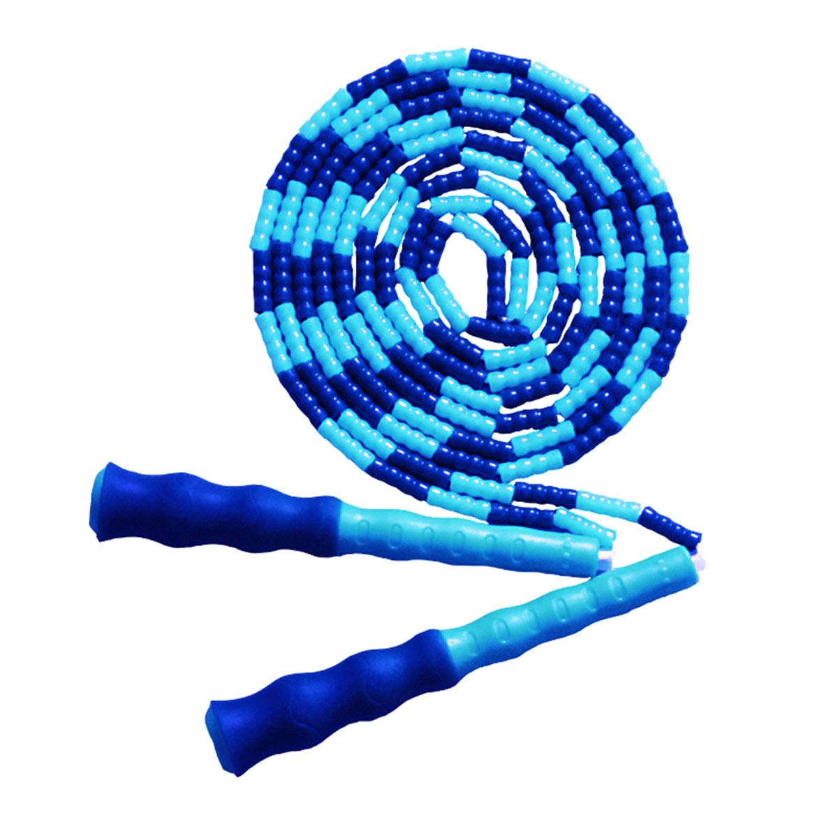 LETUSPORT 9 Feet Adjustable Beaded Segmented Jump Rope for Women Men Kids Lightweight Work Out Speed Jumping Ropes (Blue, 1 pcs)