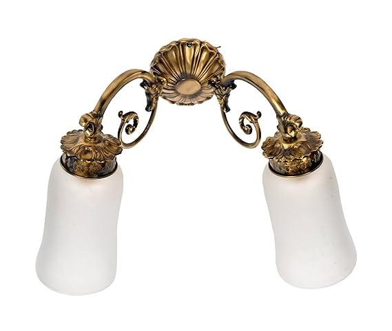 size 40 b30c3 13e6f Buy DecoLight Antique Brass Wall Light (C/Look - Double, SF ...