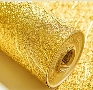 loaest Gold Farbe mit 3d-Tapete mit 3d earthhill Gold Tapete Hotel ...