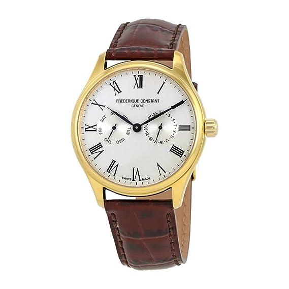 FREDERIQUE CONSTANT Reloj DE Hombre Cuarzo 39MM Correa DE Cuero FC-259WR5B5: Amazon.es: Relojes