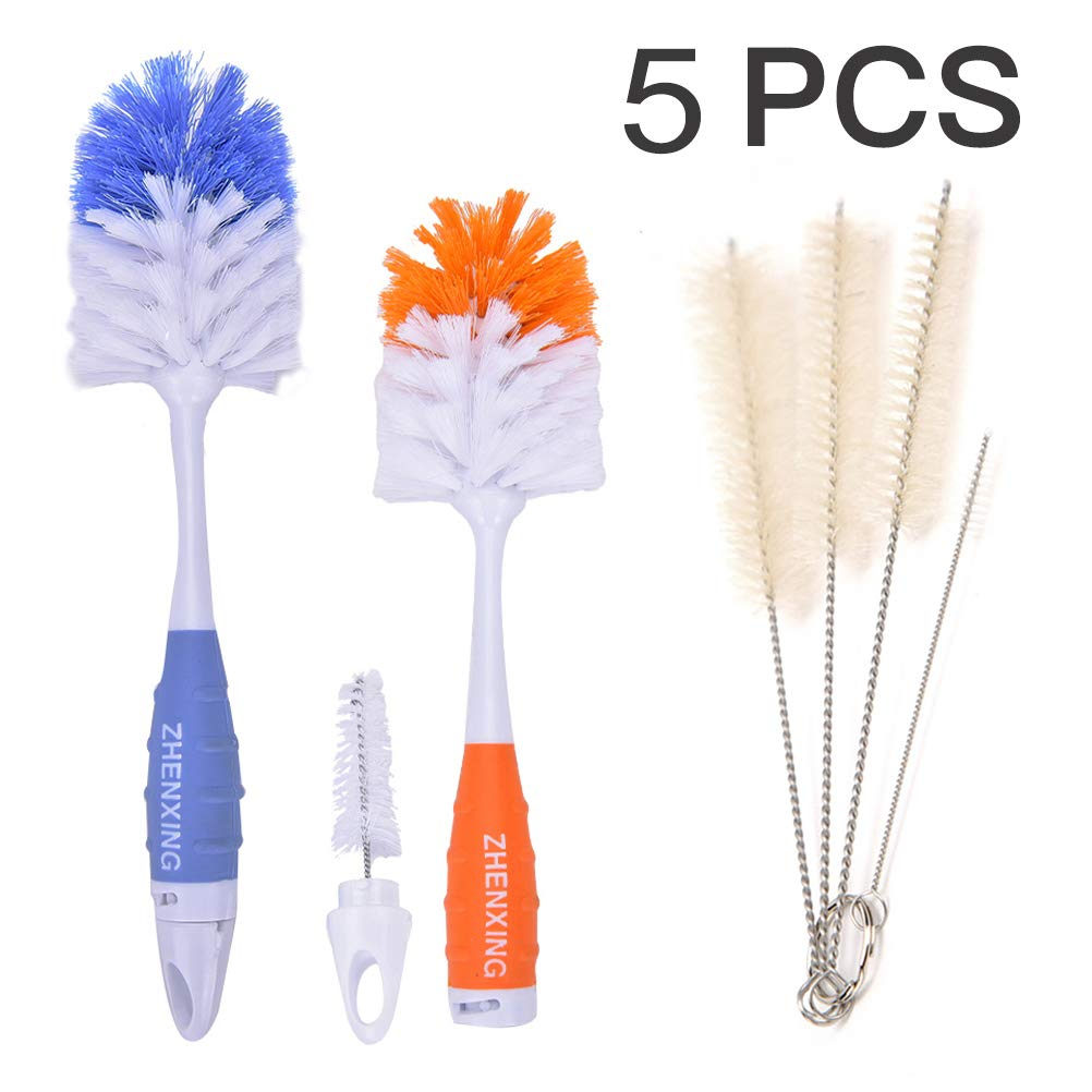 Baby Bottle Cleaning Brushes Spin Sponge Feeding Milk Nipple Brush Cleaner Tool (orange) coffled iek720003001mayeight