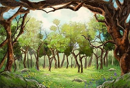 BuEnn 5x3ft Telón Fondo Bosque Cuento Hadas para fotografía ...