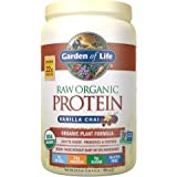 Garden of Life Raw Organic Protein Vanilla Chai Powder, 20 Servings, Certified Vegan, Gluten Free, Organic & Non-GMO, Plant Based Sugar Free Protein Shake, Probiotics & Enzymes, 4g BCAAs, 22g Protein