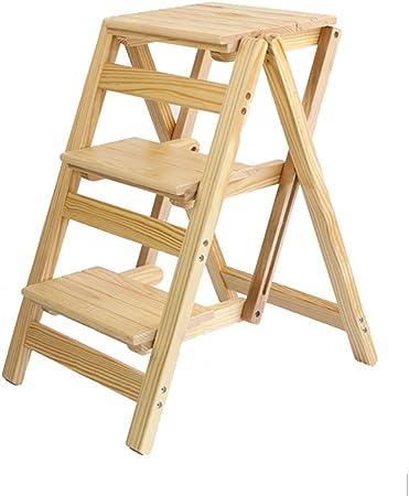 Kitchen stool Taburetes Escalera Taburete Plegable de Madera Escalera de Escalada portátil hogar Plegable Taburete de Cocina Silla de Escalada Creativo Taburete Alto Taburete (Color : C): Amazon.es: Hogar