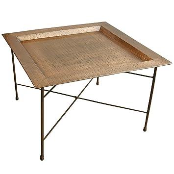 Tray Table Side Table Metal Hammered Copper Bronze Vintage Design ...