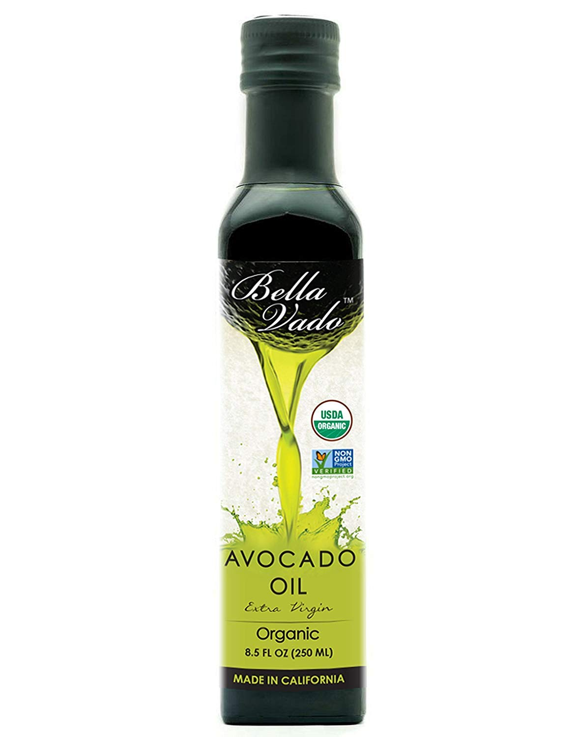 Case of 6 - Bella Vado Avocado Oil, USDA Organic, 8.5 Ounce by Bella Vado