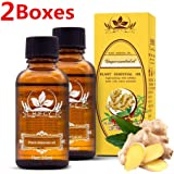 2PCS Ginger Oil, Ginger Essential Oil, Spa Massage Oils, Plant Essential Oil, New Magic Lymphatic Drainage Ginger essential Oil, 100% PURE Natural, 30ml
