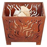 Feuerkorb Corten bronze klein Fire Basket ✔ eckig ✔ rostig (Edelrost)