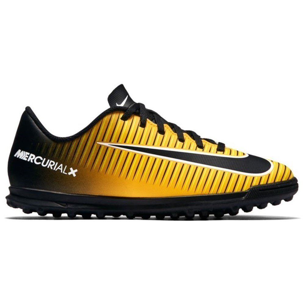 Nike Junior Mercurial X Vortex 3 TF - 831954801 - Color Yellow-Black - Size: 5.0
