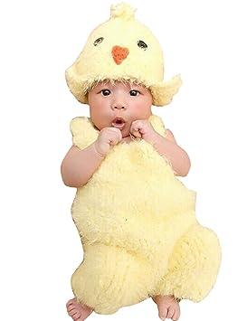THEE Disfraz Pollito de Fotografía Bebé Recién Nacido: Amazon.es: Juguetes y juegos