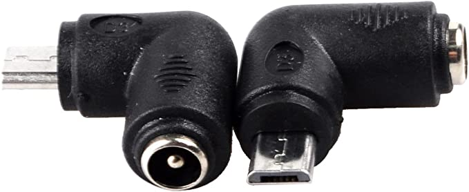 Conwork 5.5 x 2.1mm DC Power Plug Female to Micro-USB Male Charger Adapter for Cellphone Tablet 4-Pack