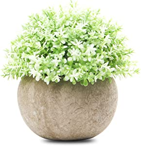 Epartswide Fake Plants,Farmhouse Plants with Pots,Mini Artificial Plants for Bathroom Office Home Decoration