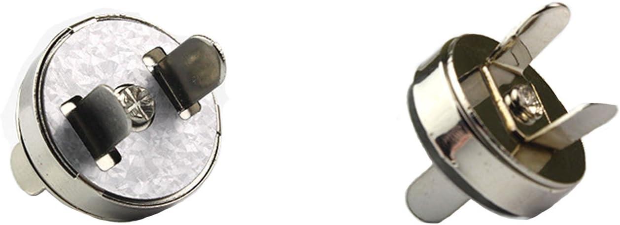 Basteln 20 St/ücke// 2 Farben Magnetkn/öpfe Tasche M/äntel Jacken Windbreaker Geldtasche Rucksack Geldb/örsen Magnetische Kn/öpfe 14mm//18mm Magnetverschluss N/ähen Handwork f/ür DIY Stricken