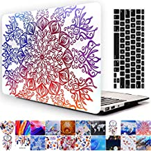 Old MacBook Pro 13'' Regular Display Case, AICOO YCL 2-in-1 Beautiful Hard Case Cover With Keyboard Skin Protector For MacBook Pro 13.3 inch With CD-ROM (A1278), Paper cutting