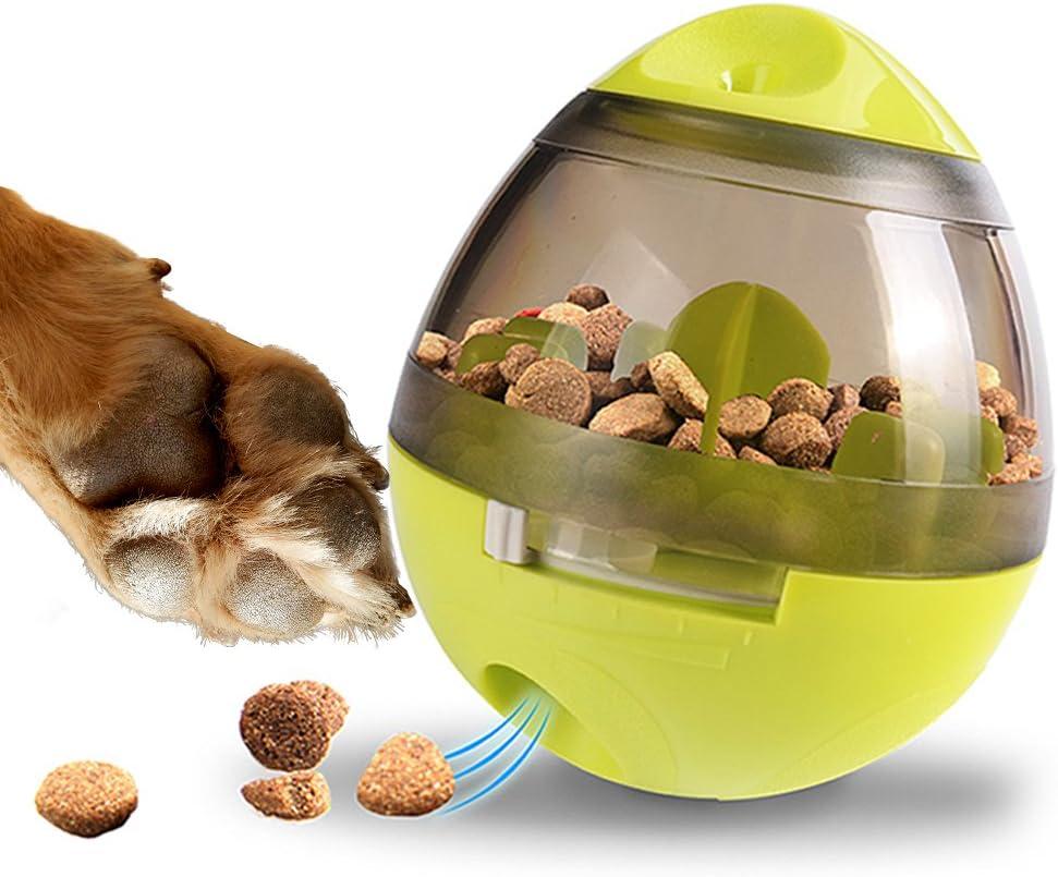 Zellar Dispenser De Premios Juguete Para Perros - Pelota Para Premios de Perros / Dispenser de Comida / Juguetes Interactivos / Pelota de Premios Para Perros y gatos Pequeños y Medianos (Verde)