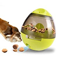 Zellar Treat Dispensing Dog Toy (Large) - Dog Treat Ball/Food Dispenser/Interactive Toys/Slow Eating IQ Treat Ball (Green) for Small Medium Dogs and Cats