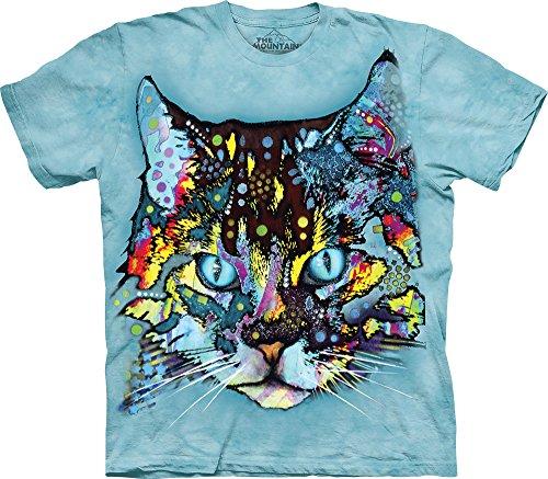 The Mountain Men's Hypno Cat T-Shirt, Blue, - Com Clothing Overstock